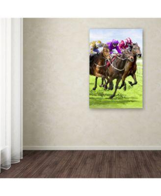 Horse Racing Canvas Art
