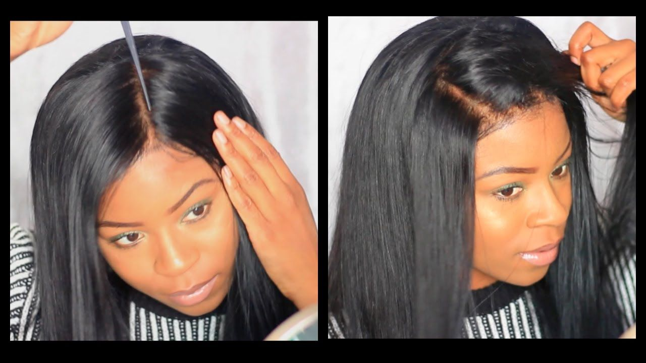 EASY How I Apply A Lace Frontal Wig WITHOUT GLUE TAPE OR SEWIN - YouTube 53798c47b