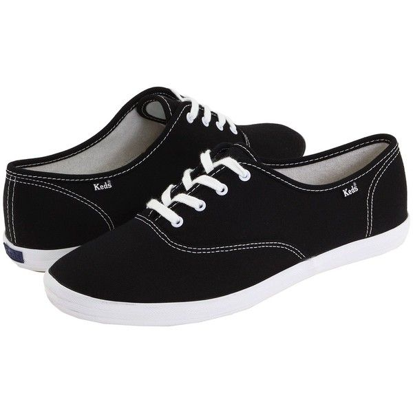 3668ff66531 Keds Champion-Canvas CVO (Black Canvas) Women s Lace up casual Shoes (1.140  UYU) ❤ liked on Polyvore featuring shoes