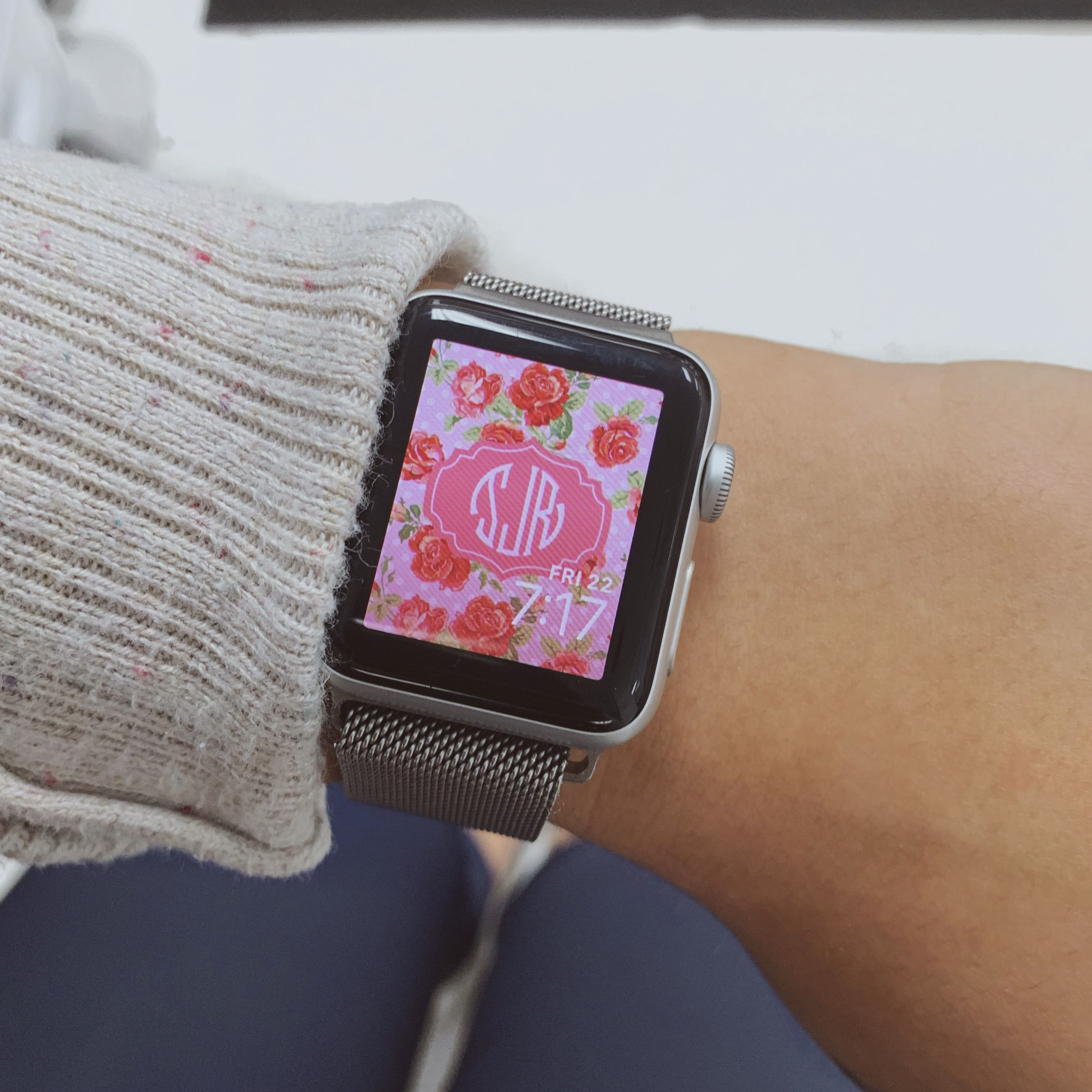 Monogrammed Apple Watch Face Apple Watch Faces Apple Watch Apple Watch 38mm