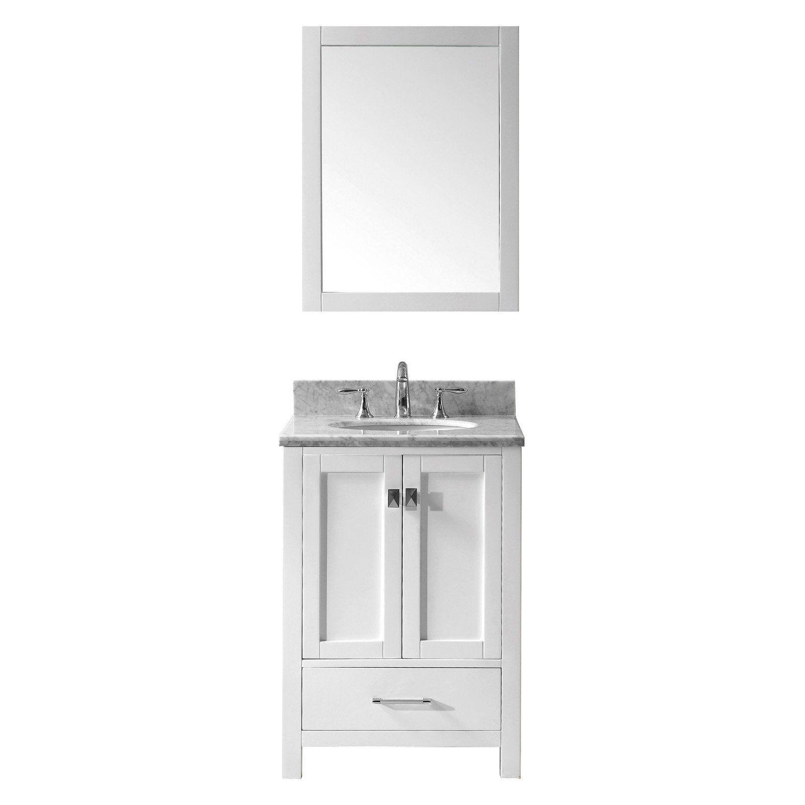 Virtu Usa Caroline Avenue 24 In Single Bathroom Vanity With Round