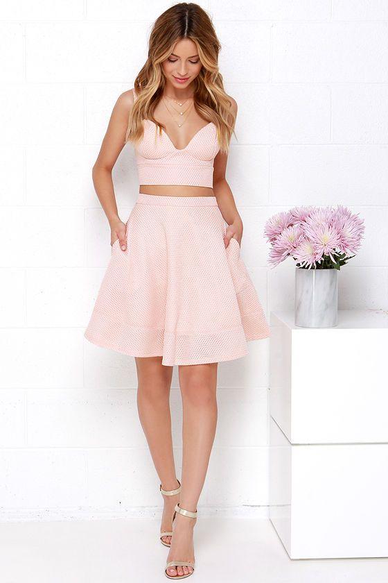 26bd199c84997 Airy Annex Blush Pink Two-Piece Dress at Lulus.com!