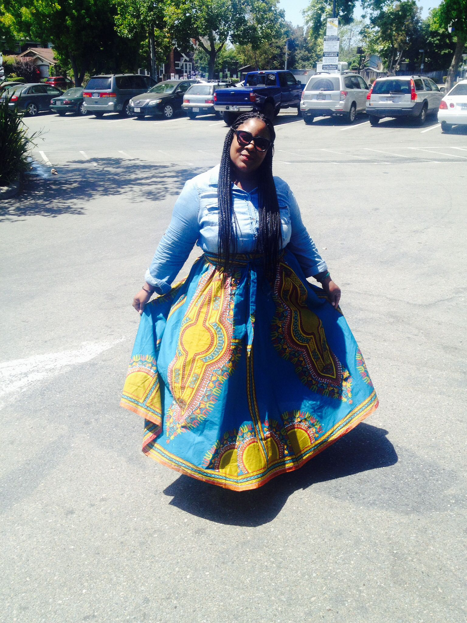 Me in a custom made skirt. AfricaGhanaMali Fashion
