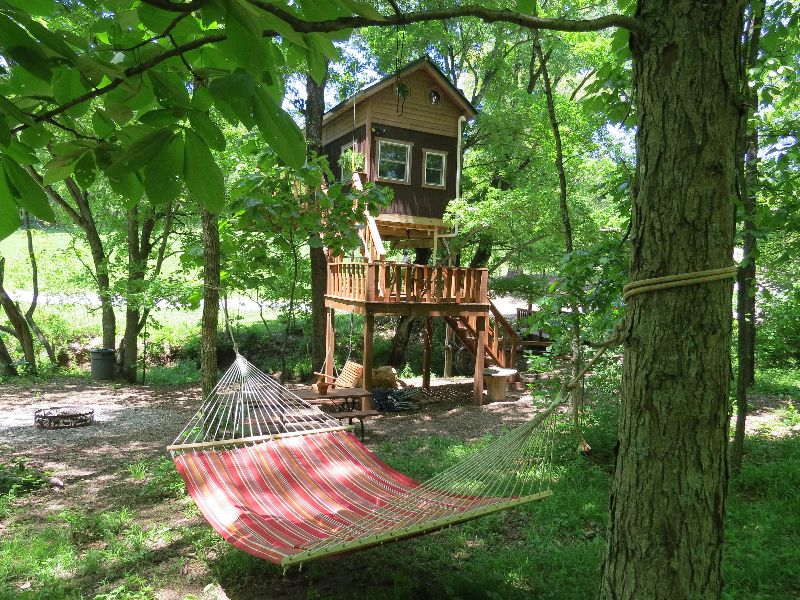 Treehouse Rentals Indiana Part - 23: Timber Ridge Outpost Maple Oak Treehouse Cabin Camping Shawnee National  Forest