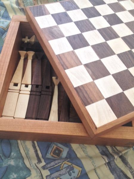 For sale on Kijiji Ottawa - beautiful handmade chess set.