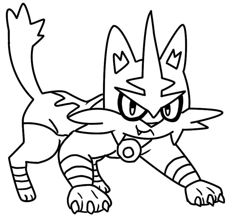 Classy Idea Alola Pokemon Coloring Pages Torracat Page By Coloriage Pokemon Coloriage Jeux Coloriage