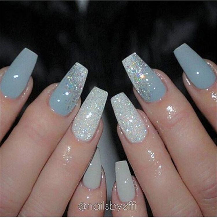 50 Stylish Winter Acrylic Coffin Nail Designs To Copy Right Now