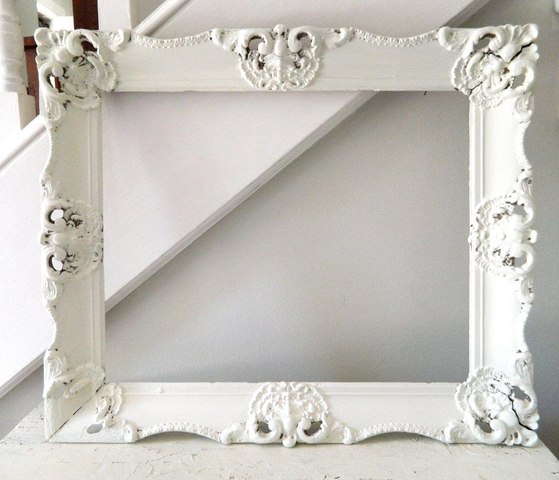 Vintage Shabby Chic Frame White Wooden Large Ornate. $49.50, via ...
