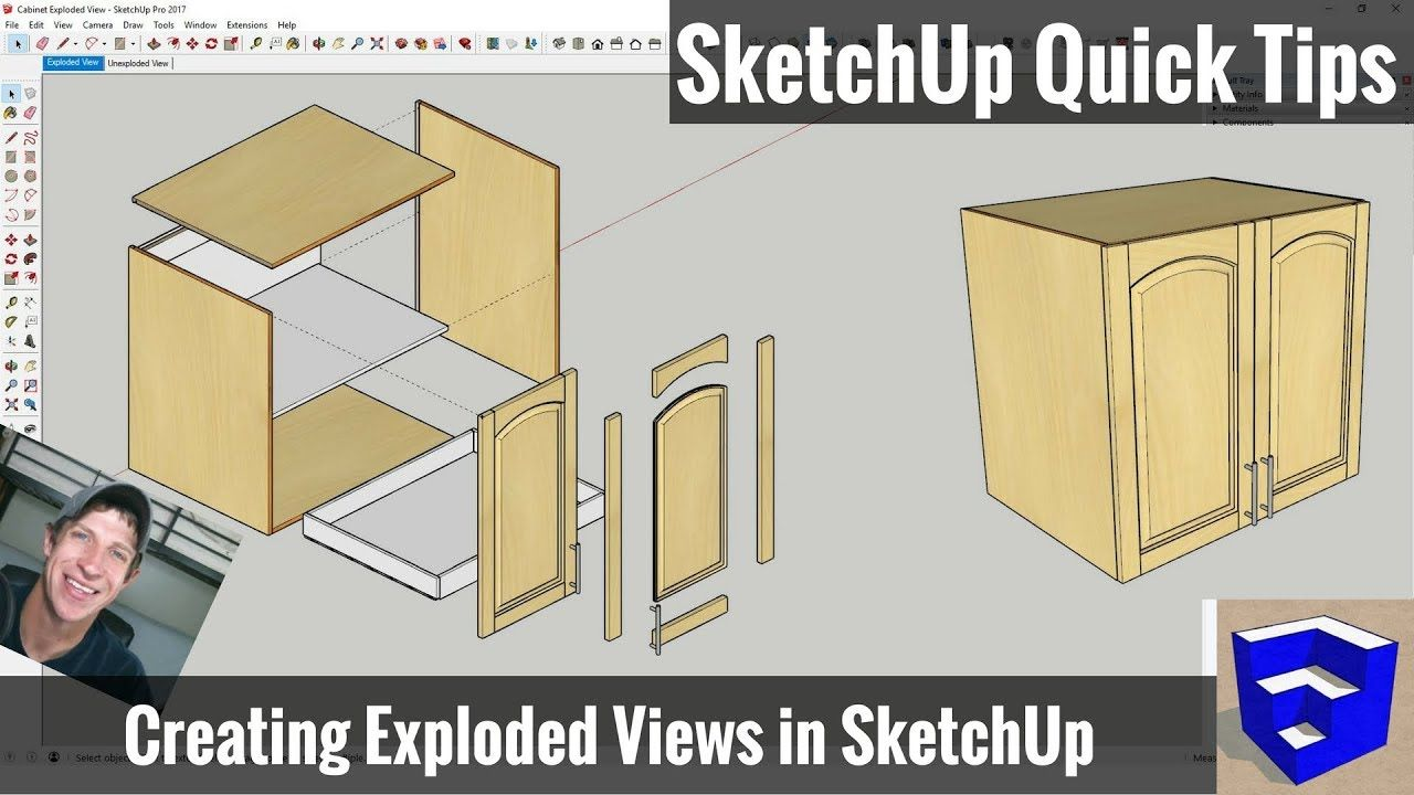 Creating An Exploded Model View In Sketchup Sketchup Quick Tips