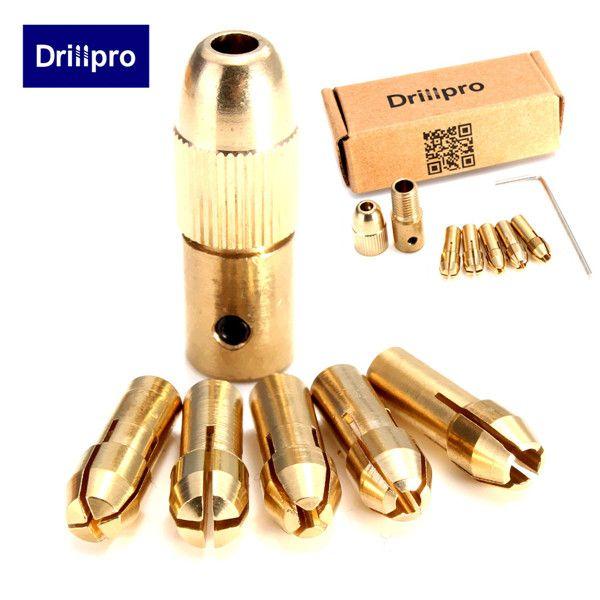 8Pcs 0.5-3mm Electric Drill Bit Collet Mini Twist Drill Tool Chuck Set Pretty