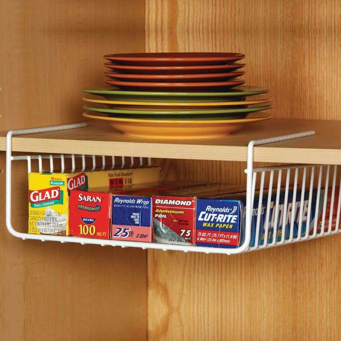 White Wire Closet Shelf Dividers - Set Of 4