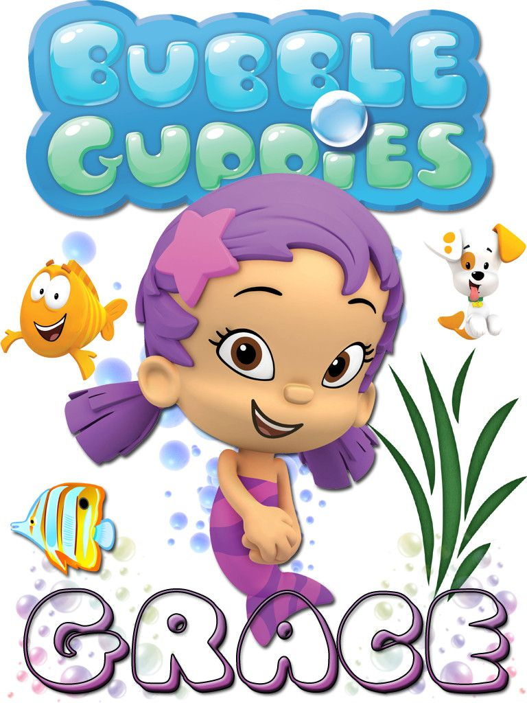 Personalized Custom NAME T-shirt Bubble Guppies Oona