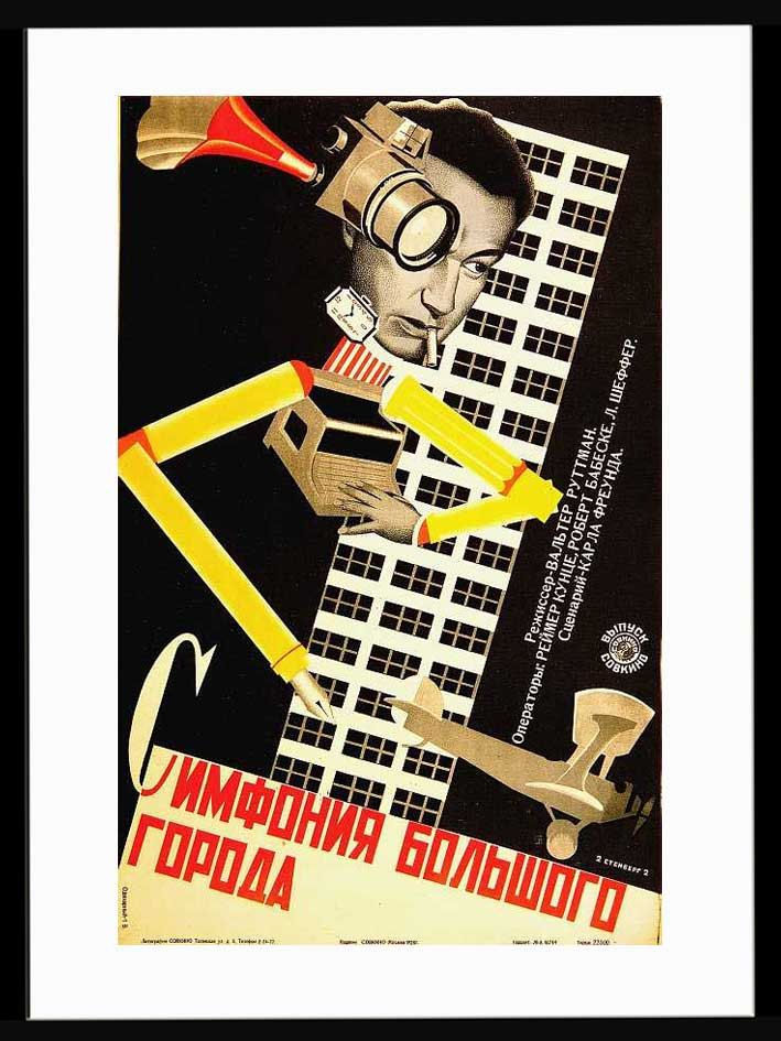 Vintage movie poster - by Stenberg brothers - Symphony of a