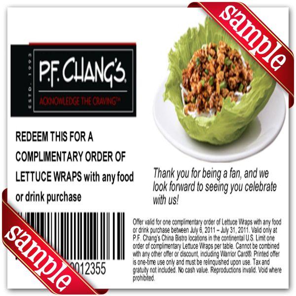 photograph relating to Pf Changs Printable Coupon identified as P.F. Changs Printable Coupon December 2016 Printable