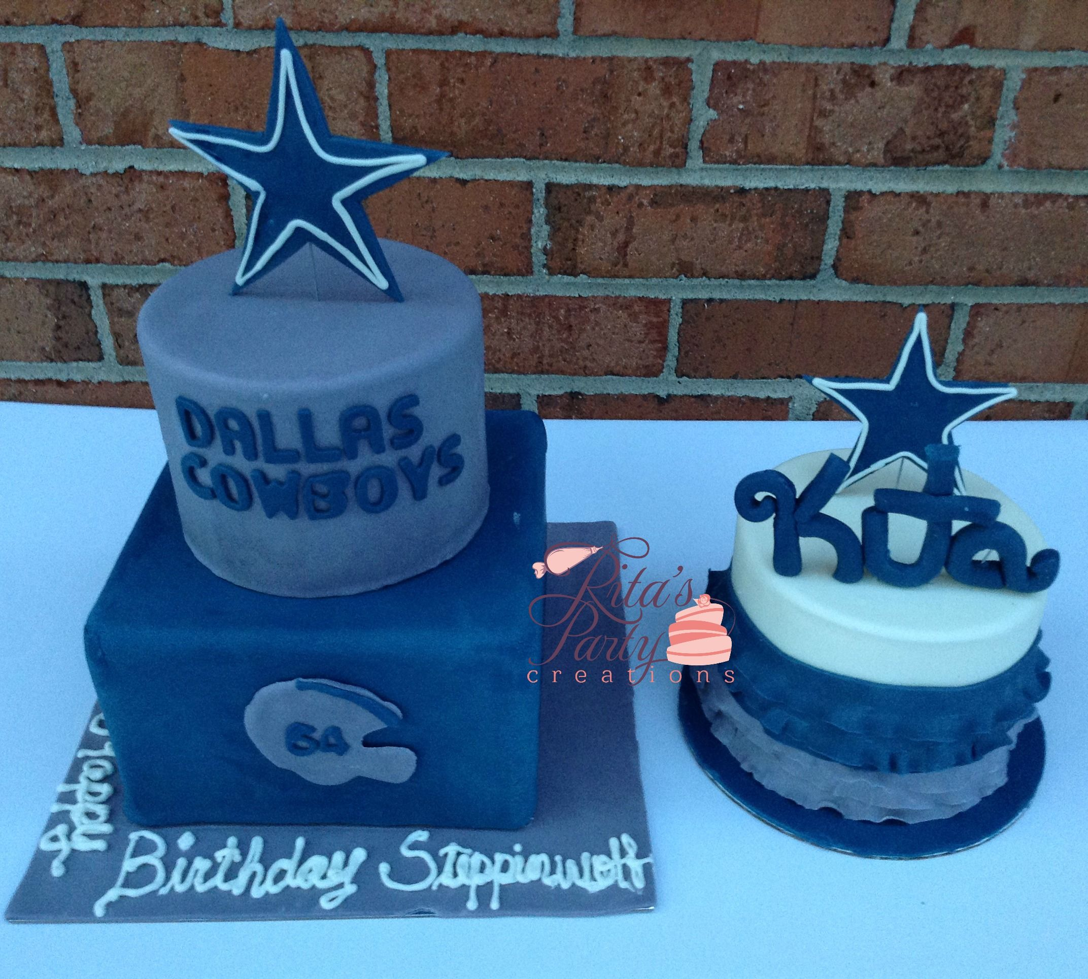 Father and Daughter Birthday Cake Dallas Cowboys Ritas Party