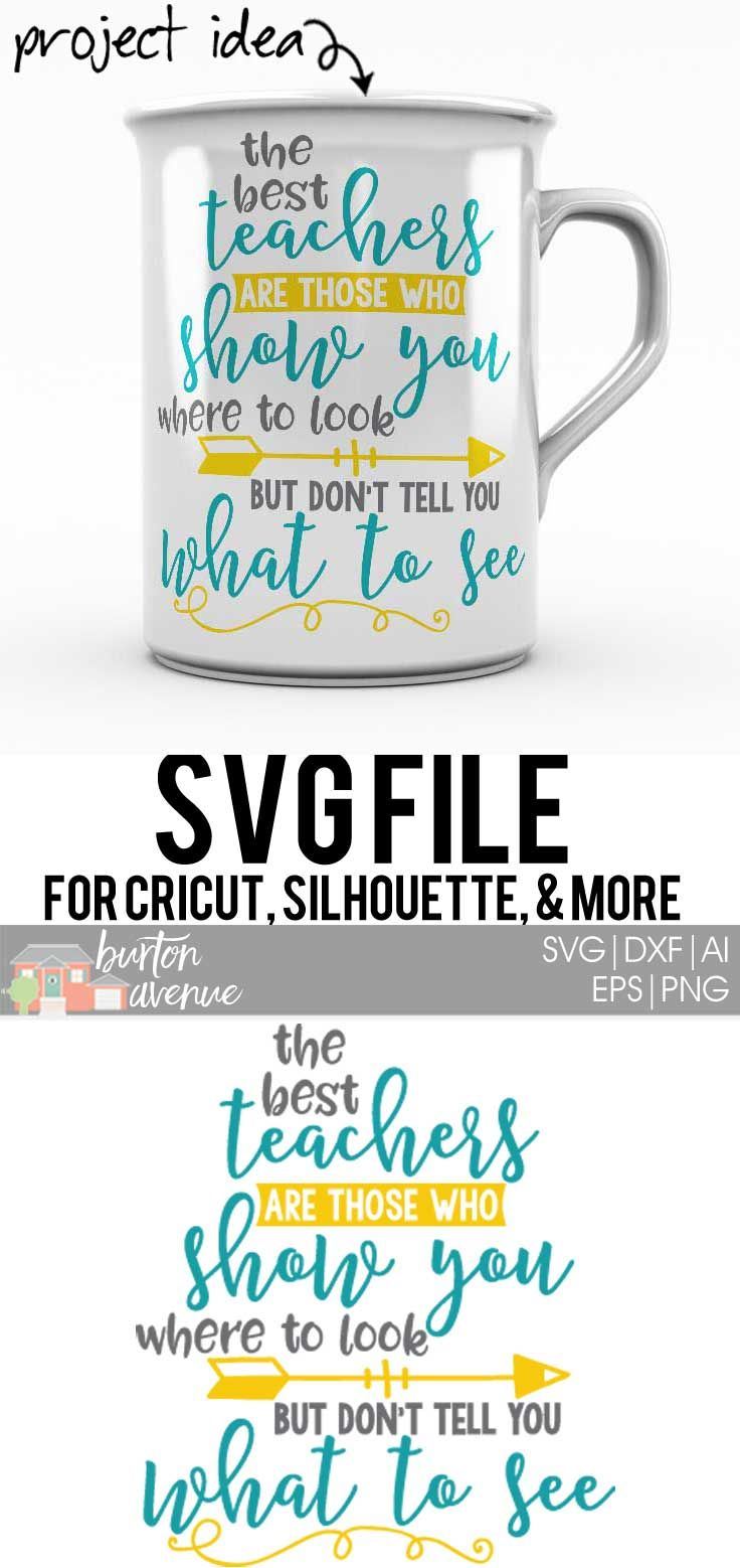The Best Teachers Cut File - SVG, EPS, AI, DXF, PNG | Cameo ...