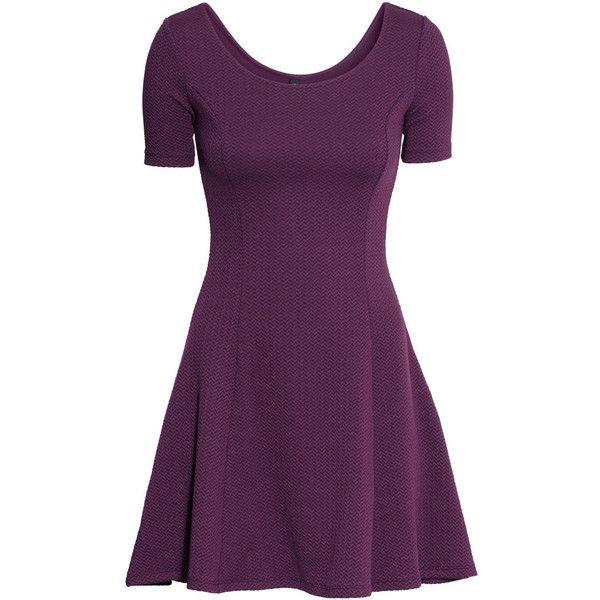 H m red cocktail dress violet