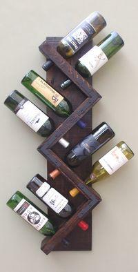 Botellero - botella 8 soporte almacenamiento pantalla de la pared