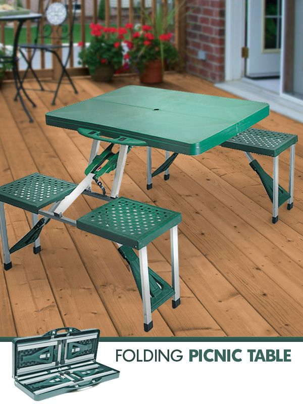 This Terrific 4 Person Fold Away Picnic Table Is Great For