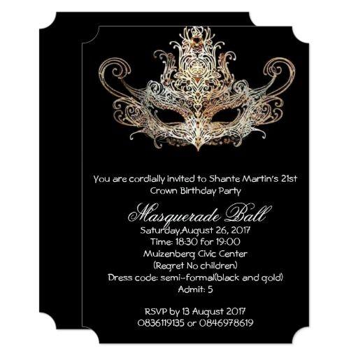 Custom Sweet Sixteen Masquerade Ball Invitations | Zazzle ...