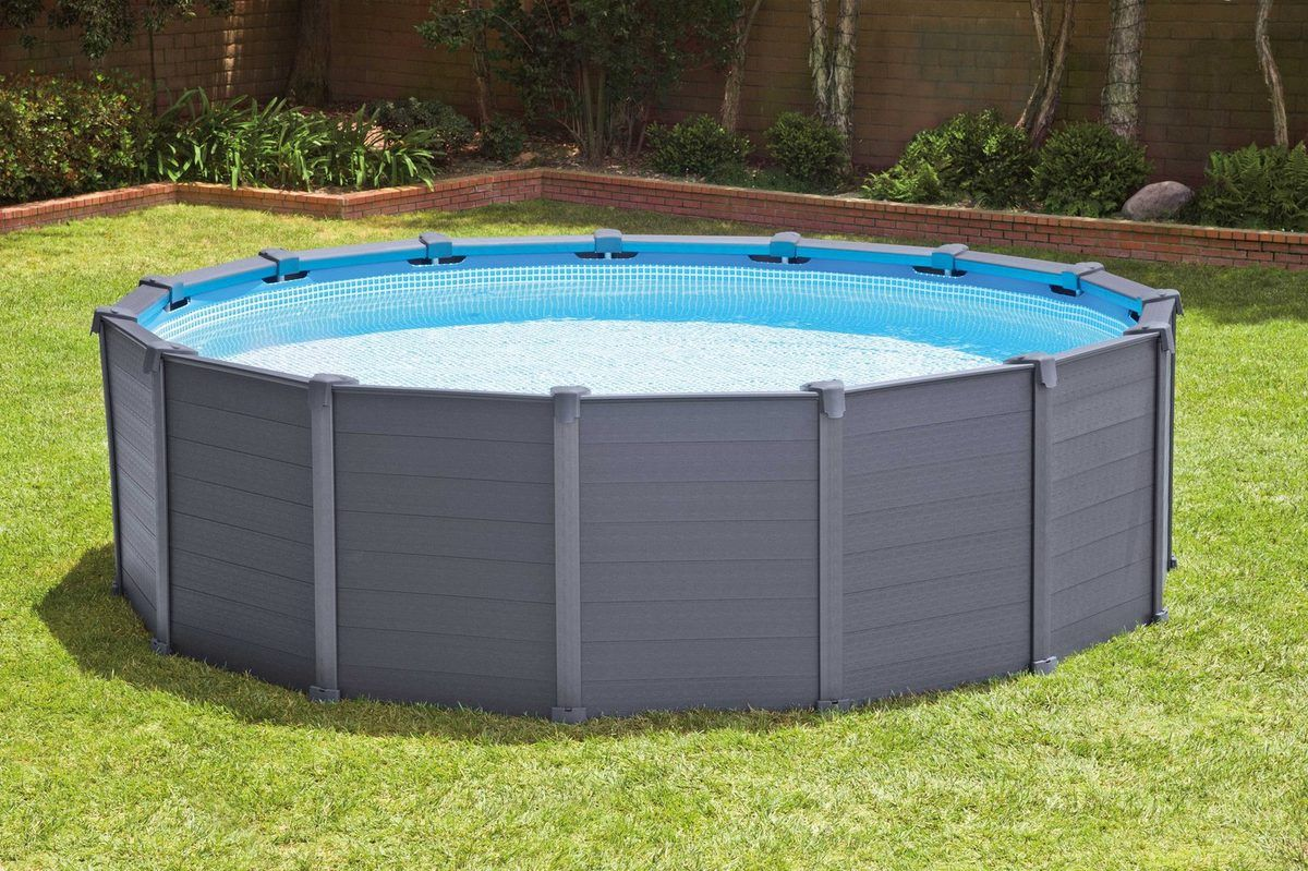 Einbau Pool Komplettset Günstig Intex Pool Graphite Panel Pool Komplett Set Set Pool Pool