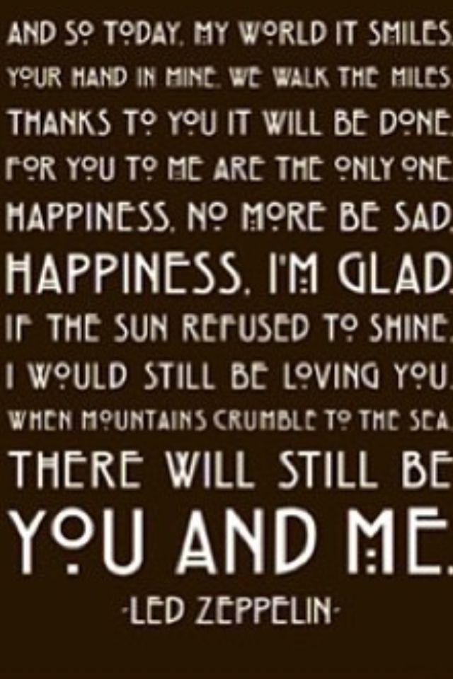 Thank You Led Zeppelin Love In Words Pinterest Lyrics Songs