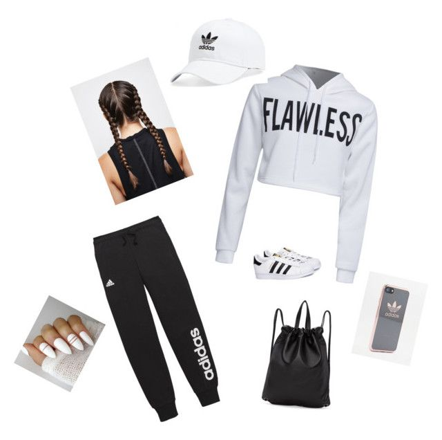 """""""Untitled #2"""" by xx-genesispuchi-xx ❤ liked on Polyvore featuring WithChic, adidas and Robert Clergerie"""