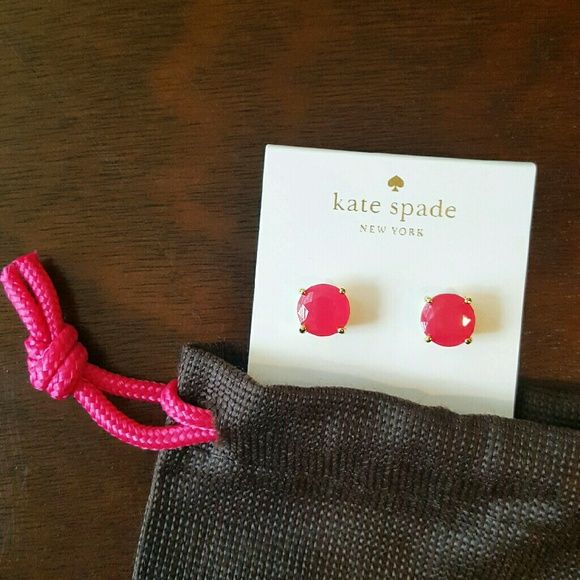MSS! Kate Spade Gumdrop Studs Sweetheart Pink Massive Sunday Sale! Sale price as marked- Bundle and save even more! 15% off TODAY ONLY! The perfect pop of color! Absolutely stunning, NWT Kate Spade gumdrop studs with gorgeous, faceted bright pink stones, 14K gold- plated hardware and post backs. Ships w/ Kate Spade dust bag. kate spade Jewelry Earrings