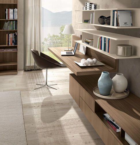 Mueble tv moderno de olmo de melamina z409 zalf - Mueble escritorio moderno ...