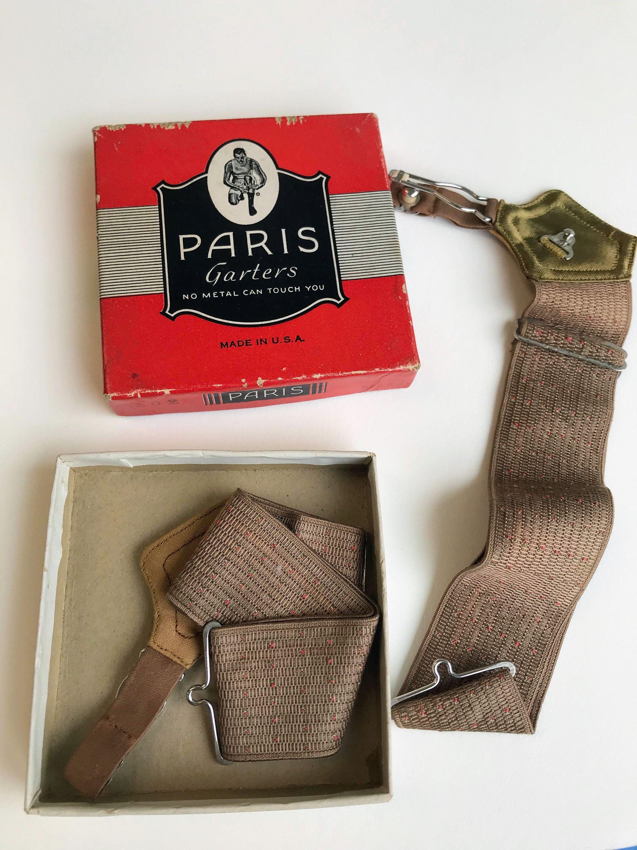 S Paris Brand Men S Garters Unused In Original