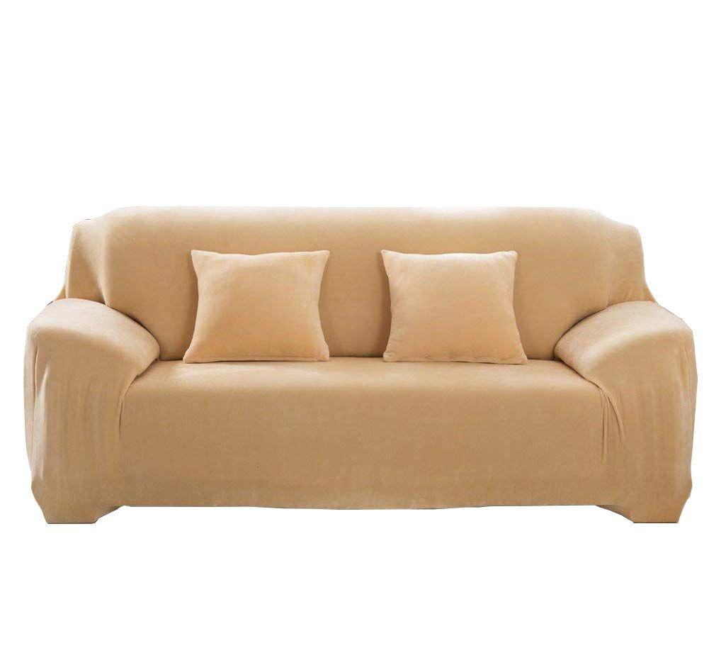 Dicke Sofa Berz Ge Sofa Sberw Rfe 1 2 3 4 Sitz Sberwurf Sofa Schutz Berzug Aus Samt Einfache Passform Stretch Material Beige 3 S In 2020 Sofa Covers Sofa Plush Sofa