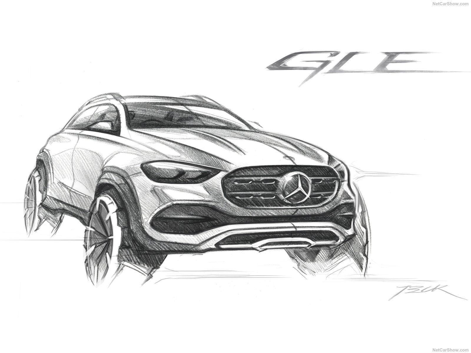 Mercedes Benz Gle Sketch