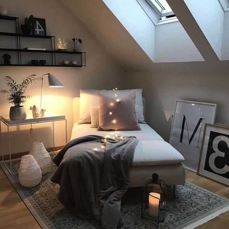 Dachschr臠e Deko Schlafzimmer