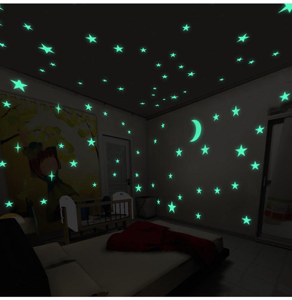 Dark Home Decoration Fluorescent Decals Kids Rooms Decor Luminous Wall Stickers