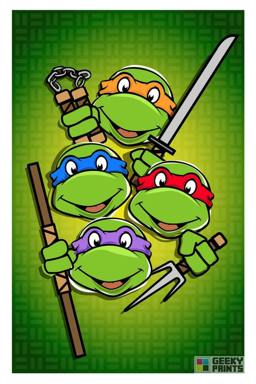 Colorful TMNT by Geeky Prints | 8 Bit Nerds