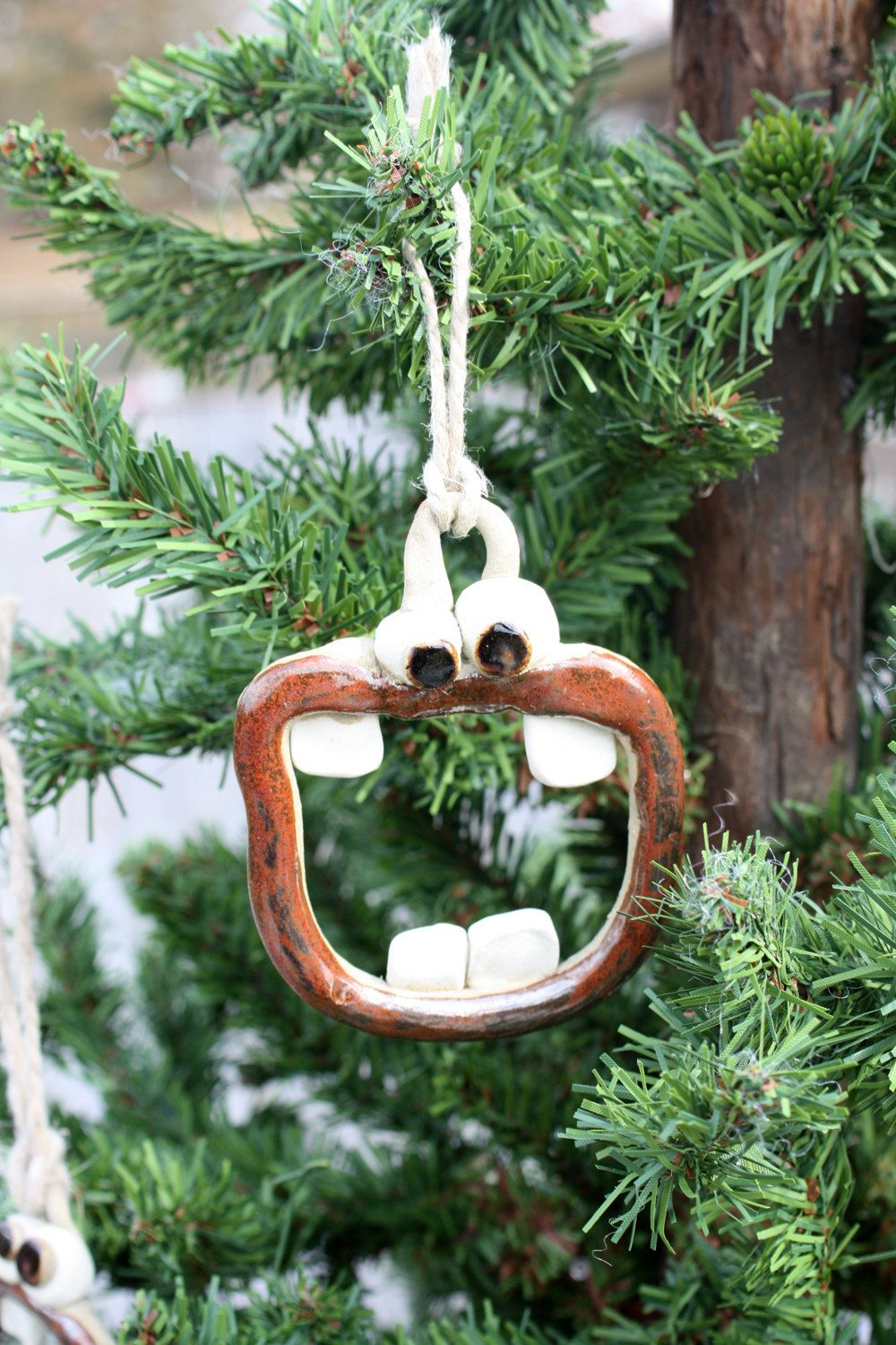 Christmas Tree Ornament All I Want For Christmas Is My Two Front Teeth Singing O Fun Little Orn Christmas Tree Ornaments Unique Christmas Ornaments Christmas