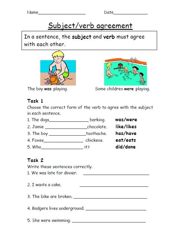 year 4 homework sheets verb agreement learning printable english class lenguaje. Black Bedroom Furniture Sets. Home Design Ideas