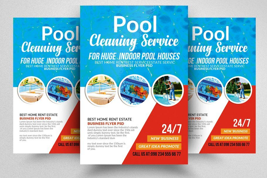 10 Pool Cleaning Flyers Bundle Pool Cleaning Service Cleaning Service Flyer Cleaning Flyers