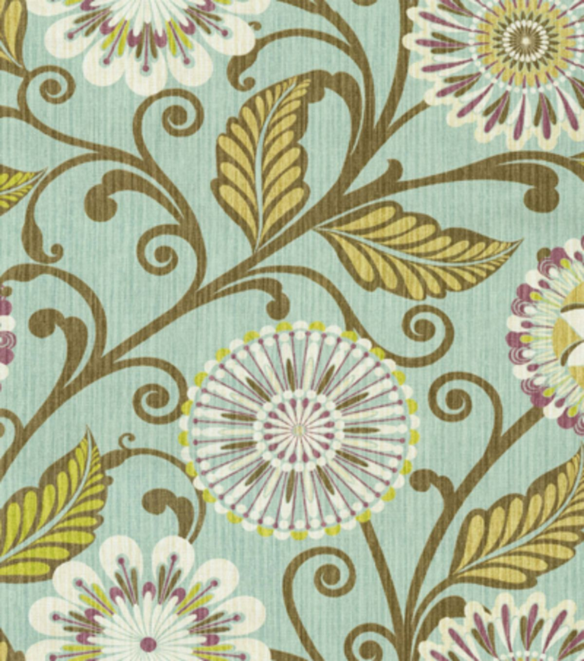 HGTV Home Decor Print Fabric Urban Blosson Glacier | HGTV Fabric ...