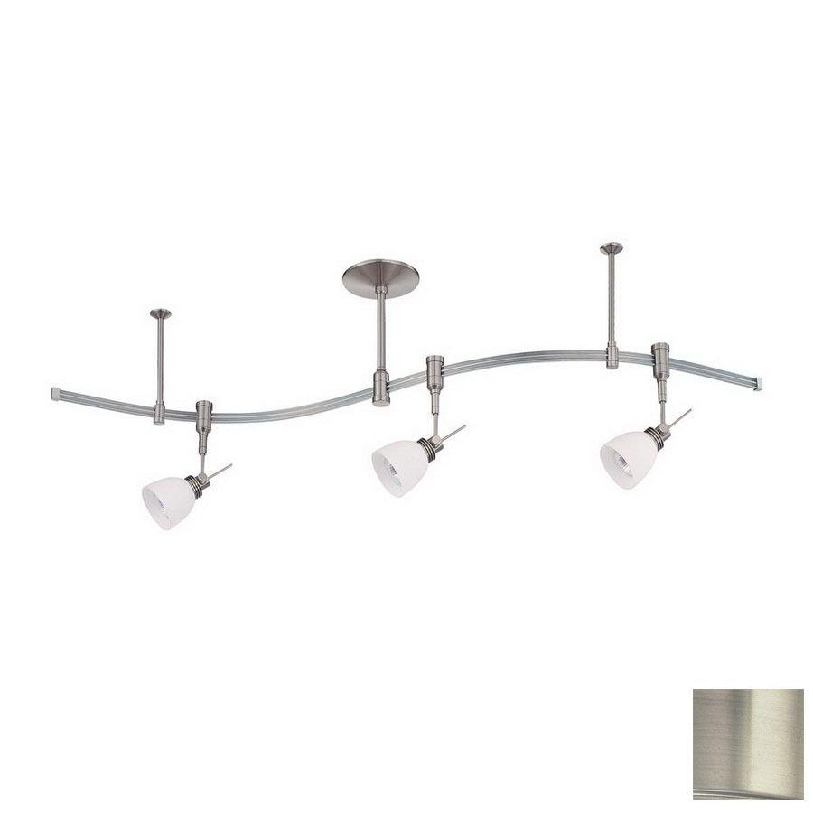 Shop Kendal Lighting 3Light Satin Nickel Decorative Flexible Impressive Kitchen Lighting Lowes Review