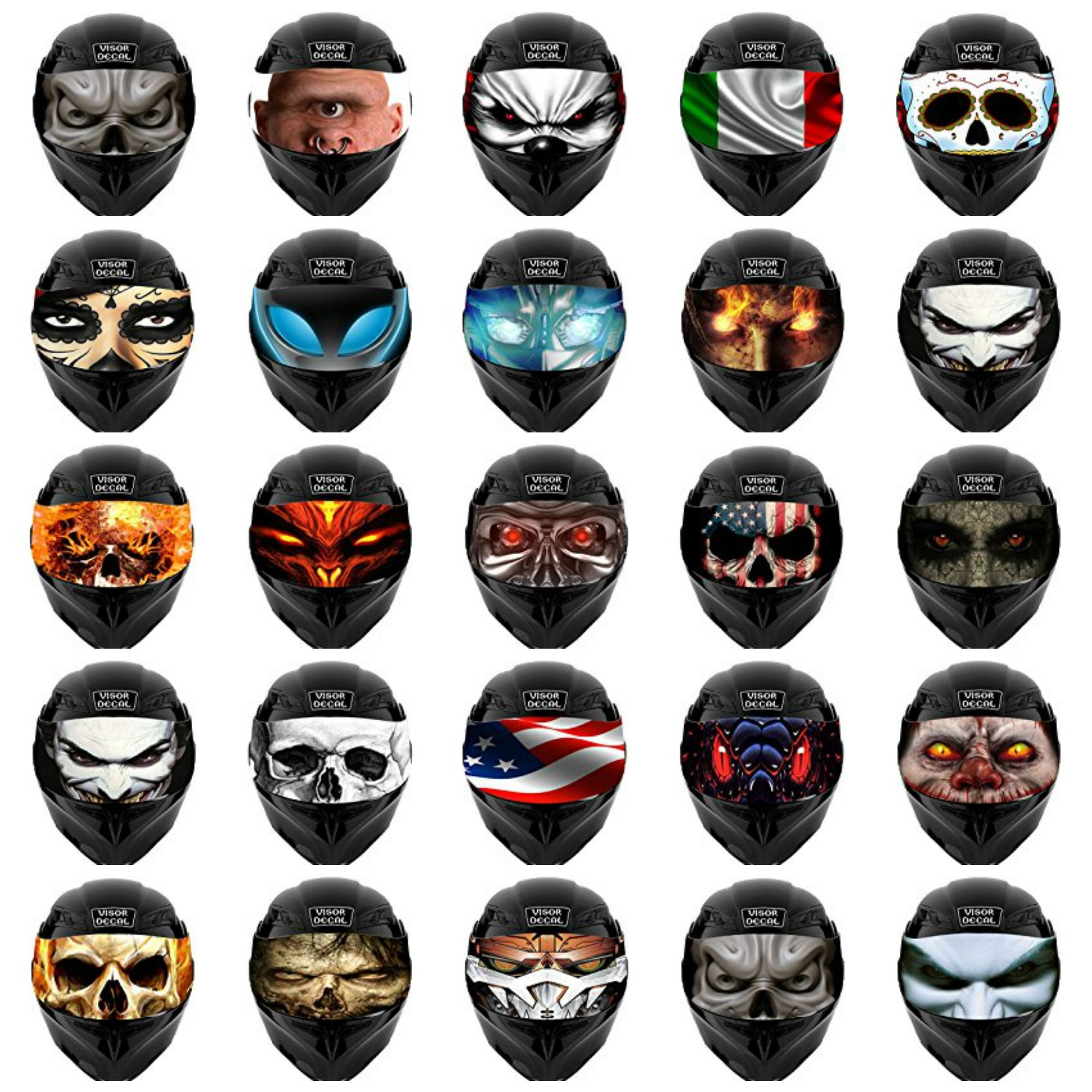 Motorcycle Helmet Visor Decals Motorcycle Helmet