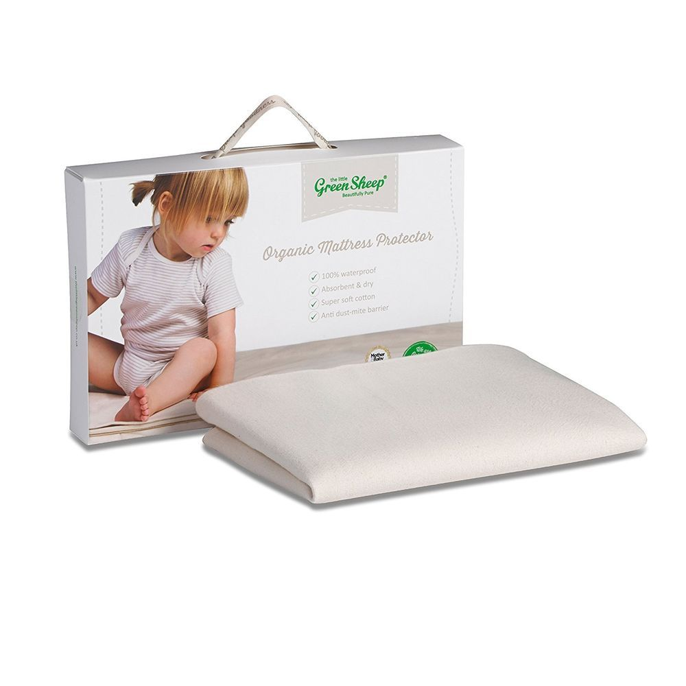 the little green sheep organic waterproof mattress protector chicco