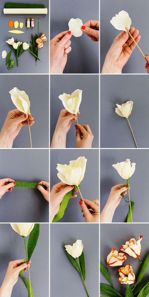 80 frische frühlingshafte Ideen zum Tulpen basteln und dekorieren – Wohnideen und Dekoration