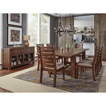 Corrine 10 Piece Dining Set Dining Room Table Chairs Solid Wood Dining Room Dining Table Dimensions