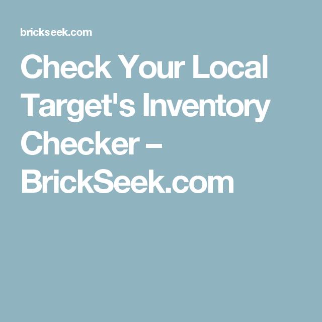 check your local targets inventory checker brickseekcom