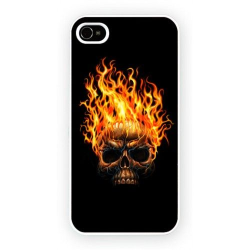 Fire Skull iPhone 4/4S and iPhone 5 Cases