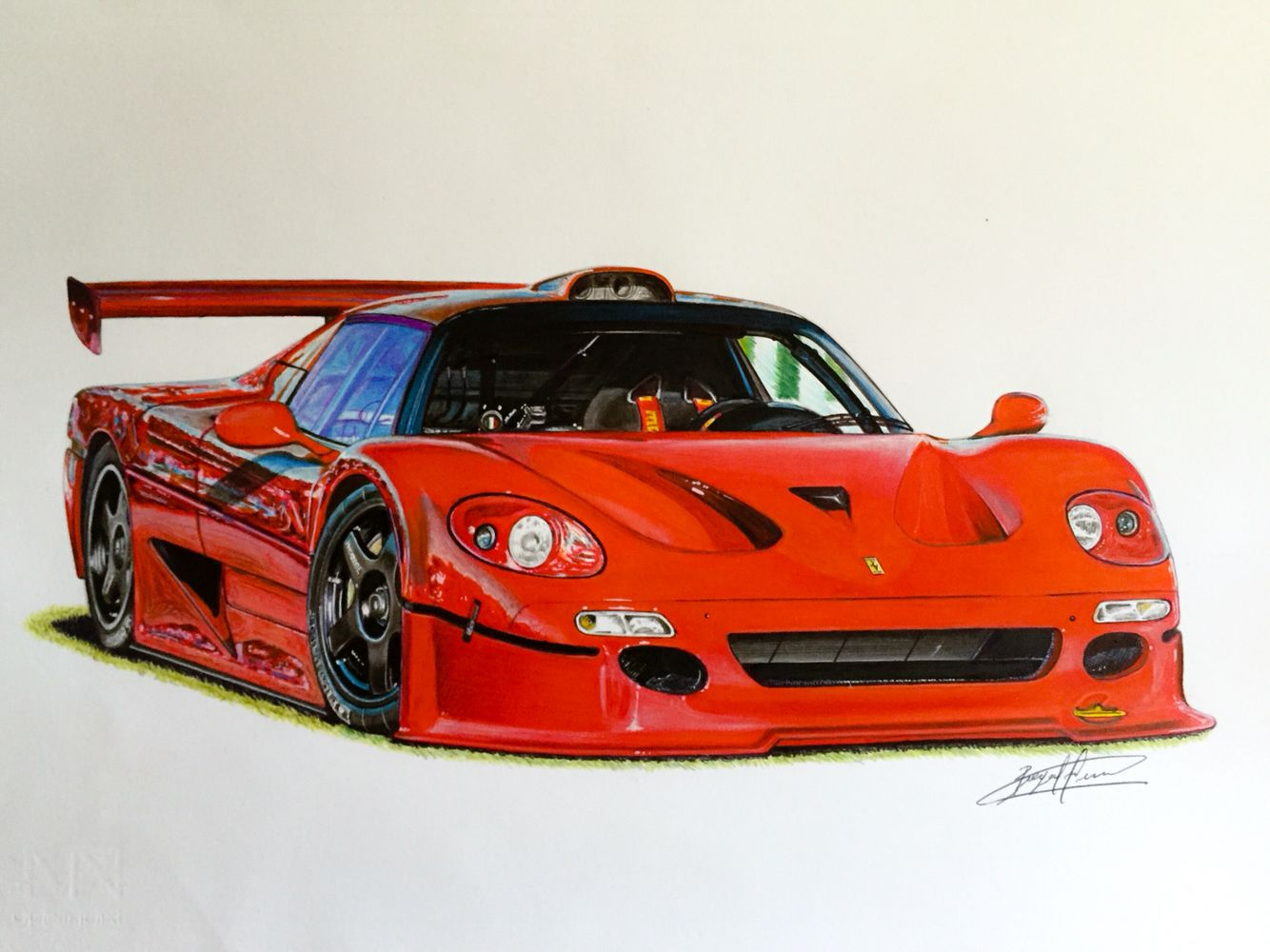 Ferrari Competizione Drawing Supercar By Filo Pinterest