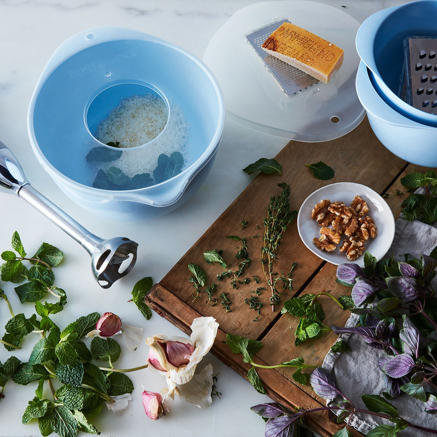 Food52 x Rosti Mepal Margrethe Nested Mixing Bowls & Specialty Lids ...