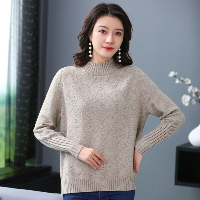 Pullover Slim Women/'s Sweater Jumper Neck Crew Cashmere elasticity Soft Knitted