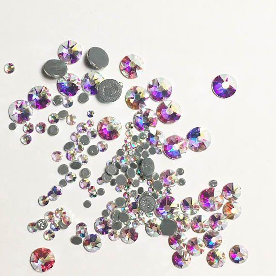 ab7eb33d0c85 Swarovski crystals HOTFIX flat back stones gems rhinestone crystal ab or  clear - for clothes